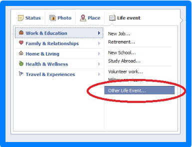 How To Create Life Event On Facebook