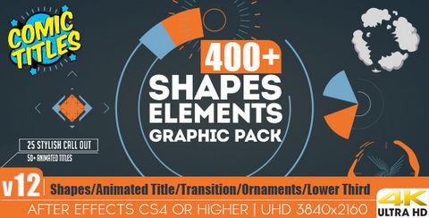 قالب افتر افكت مجاني - أزيد من 400 شكل متحرك للموشن جرافيك - CS4 فأعلى