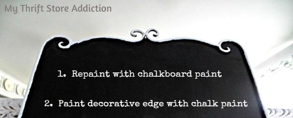 Valentine Chalkboard Upcycle  mythriftstoreaddiction.blogspot.com Chalkboard upcycle tutorial