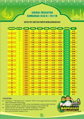 Jadwal Imsakiyah Kabupaten Pati