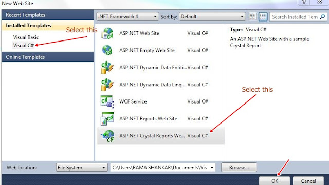 asp.net crystal reports website