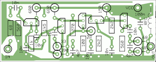 AM, SW, FM, VHF Antenna amplifier PCB outline