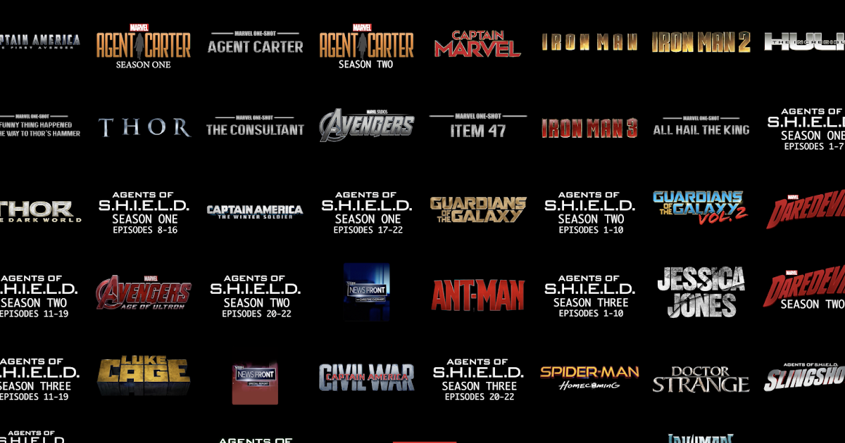 Tem Na Web - Todos os filmes e séries da Marvel em ordem cronológica!