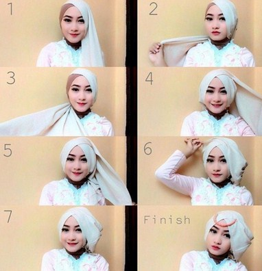 tips tutorial hijab style 3