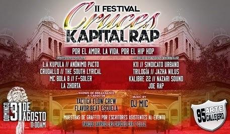 Este fin de semana llega el Festival de Hip Hop Cruces Kapital Rap - 31 de  Agosto 2014 c779e19abe3