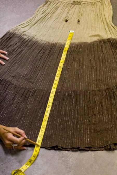 DIY transformar una falda larga en un pantalón palazzo
