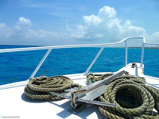 Bateau départ pour la plongée avec Phocea Mexico, Playa Del Carmen