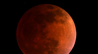 Moon Sighting Photo Colored Red Blood