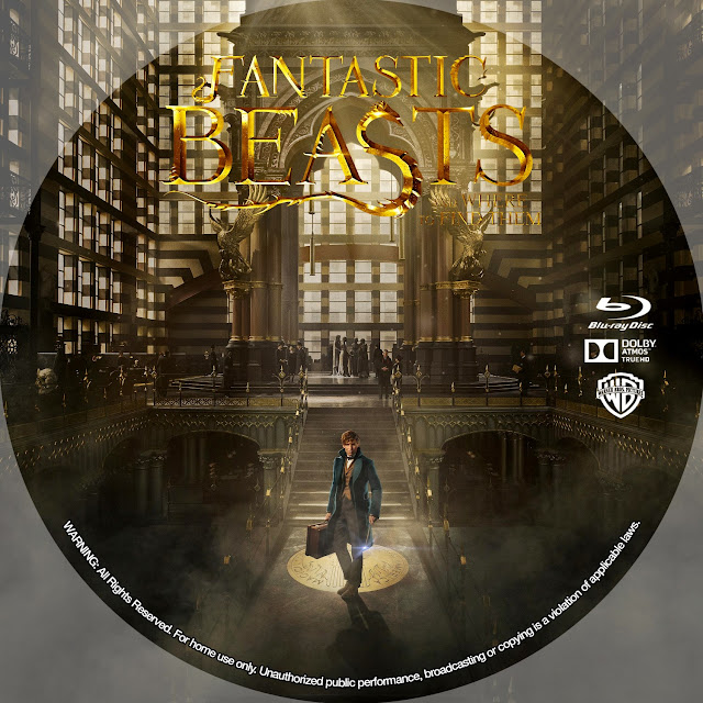 Fantastic Beasts And Where To Find Them Bluray Label