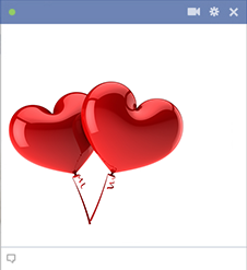Two heart balloons for Facebook