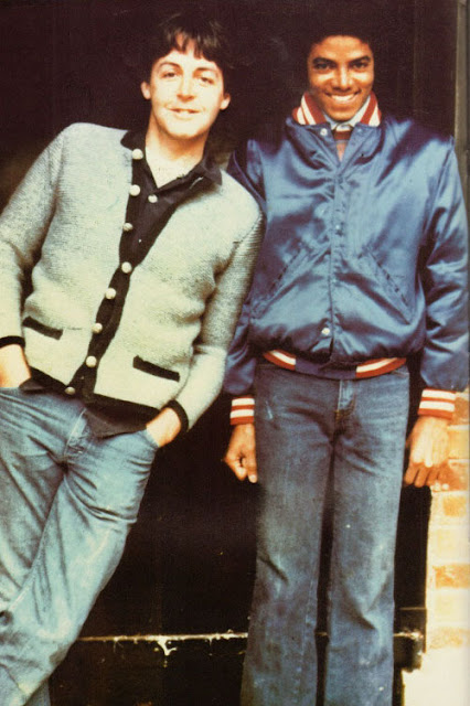 Paul McCartney and Michael Jackson. Promotional photos for Say, Say, Say. 1980s