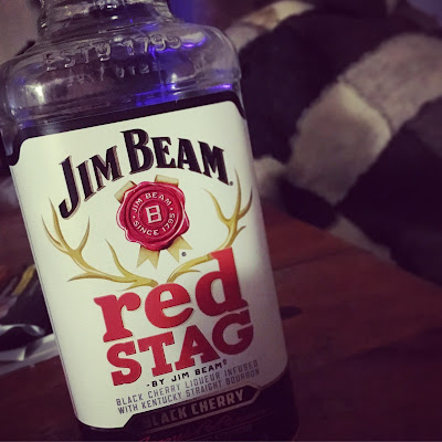 Bottle of Jim Beam Red Stag