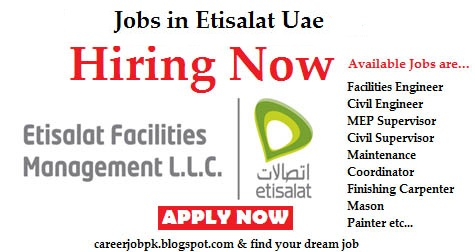Jobs in Etisalat Telecom Dubai