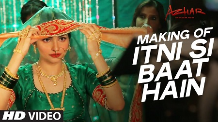 Itni Si Baat Hain Song Making Video Azhar Emraan Hashmi and Prachi Desai