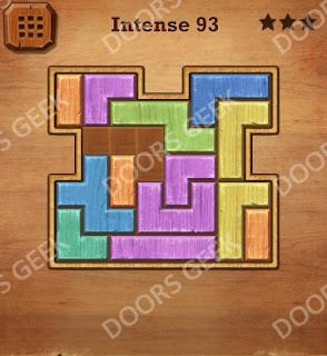Cheats, Solutions, Walkthrough for Wood Block Puzzle Intense Level 93