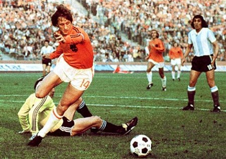 Johan Cruijff in dribbling