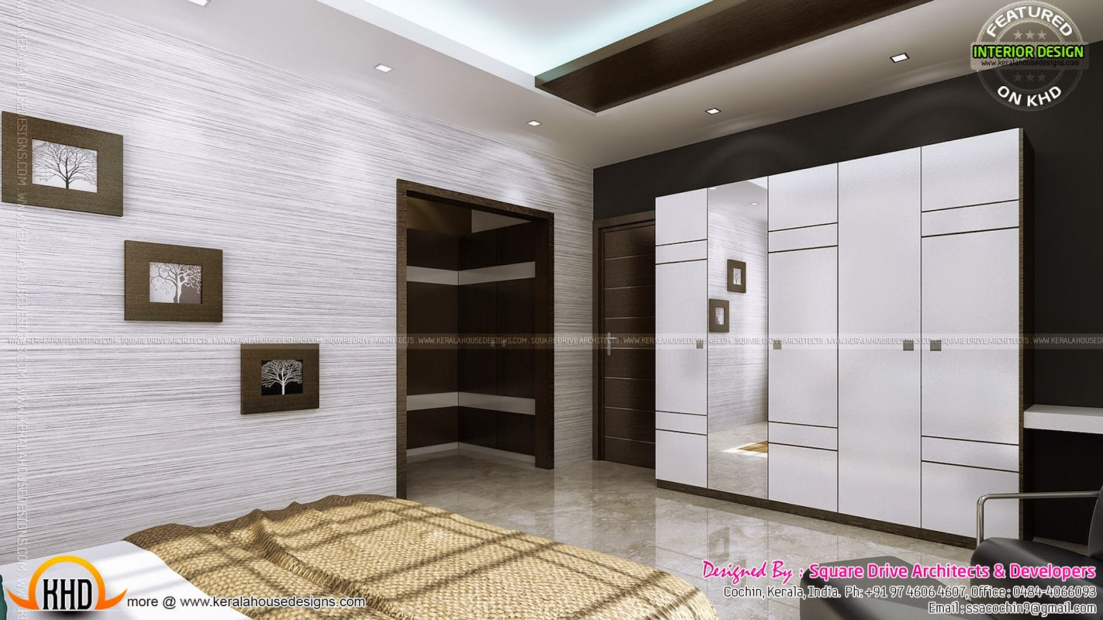 Bedroom And Living Interior Designs Kerala Home Design