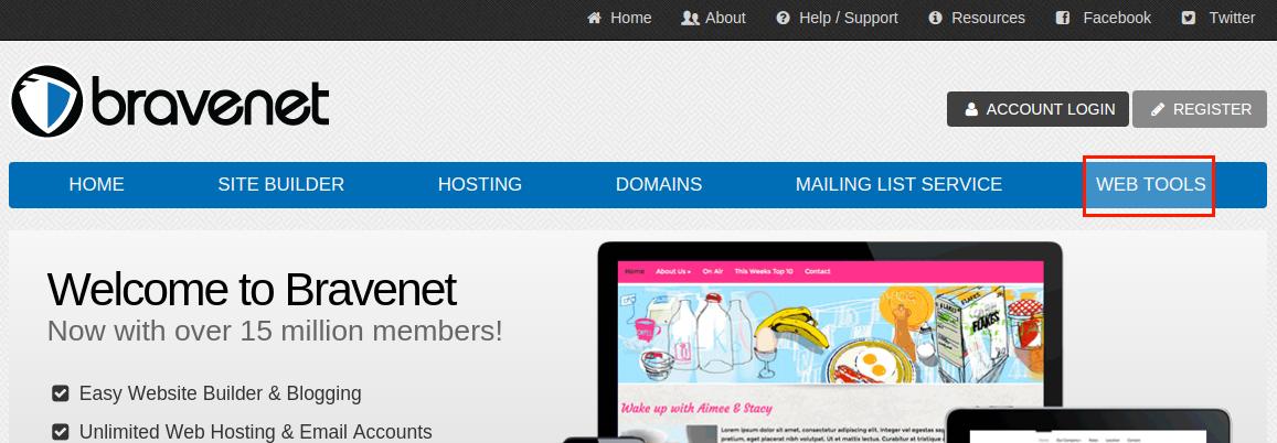 Bravenet Guestbook을 이용하여 Blogger 방명록 추가 방법 1 - Bravenet 접속