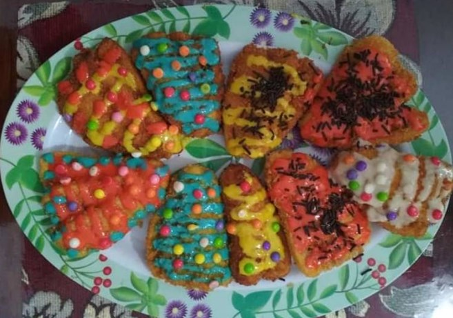 Pisang Goreng Krispi Warna warni Weni Wnee