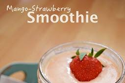 Resep dan Cara Membuat Minuman Mango-Strawberry Smoothie