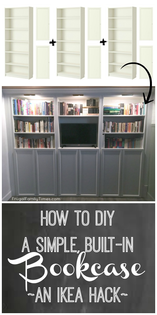 without further ado here is our tutorial for how to make built in bookcases from ikea billy bookshelves and we added library lights to them too - Ikea Billy Bookshelves