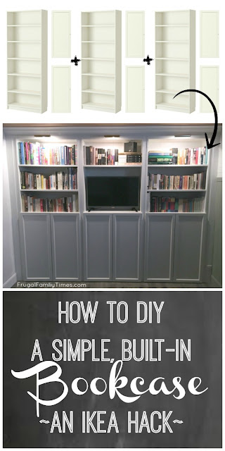 billy bookcase built in