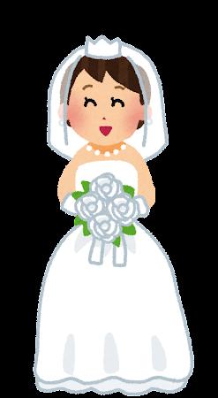 新婦・花嫁のイラスト(結婚式)