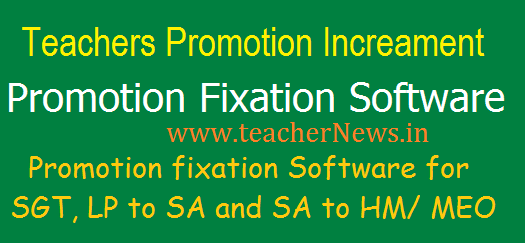 AP/ TS Teachers Promotion fixation Software, DDO Proceeding latter Under 22a(i), 22B GOs