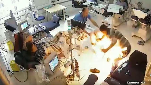 Un hombre quema vivos a varios pacientes de un hospital