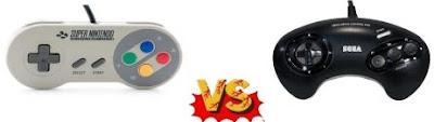 Mandos videoconsolas SNES y Mega Drive
