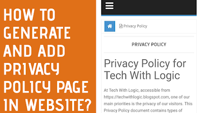How to Add Privacy Policy Page in any Website on Blogger or Word Press?