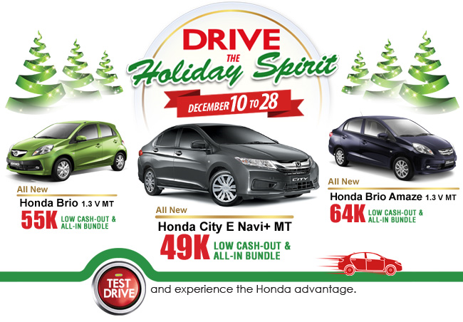 Honda Drive the Holiday Spirit Promo
