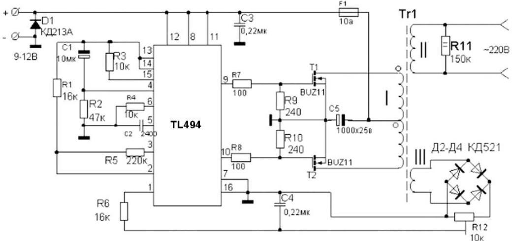 Tool Electric: Преобразователь напряжения на TL494