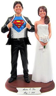 Custom Superhero Figurines Wedding Cake Topper