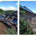 Carreta com carga de cimento tombou entre Paulista e São Bento-PB