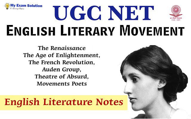 UGC NET English Literature, myexamsolution, UGC NET, English literature notes, Literature, English Literature notes for ugc net