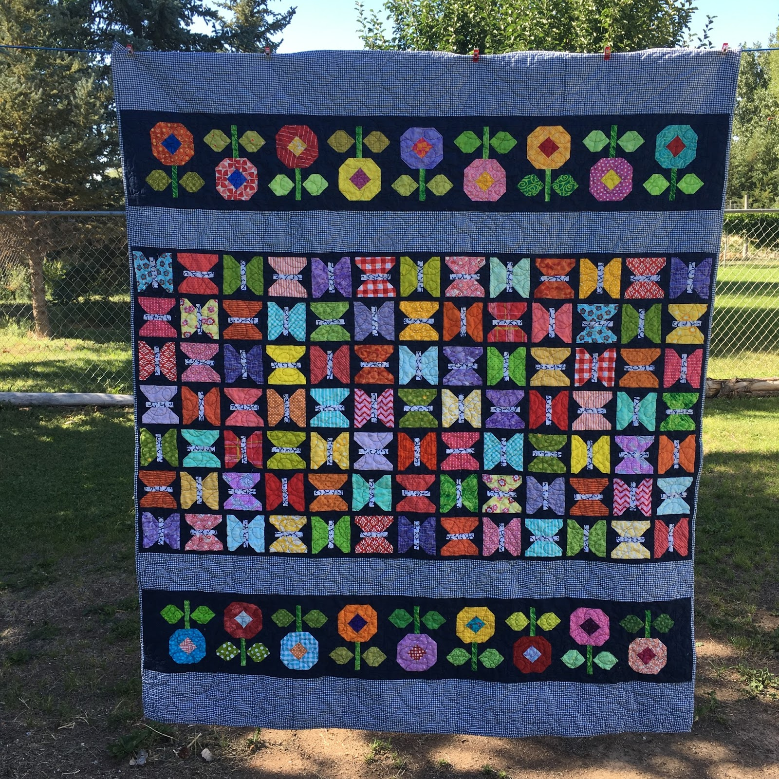 Tanya Quilts In Co Butterfly Garden Finish