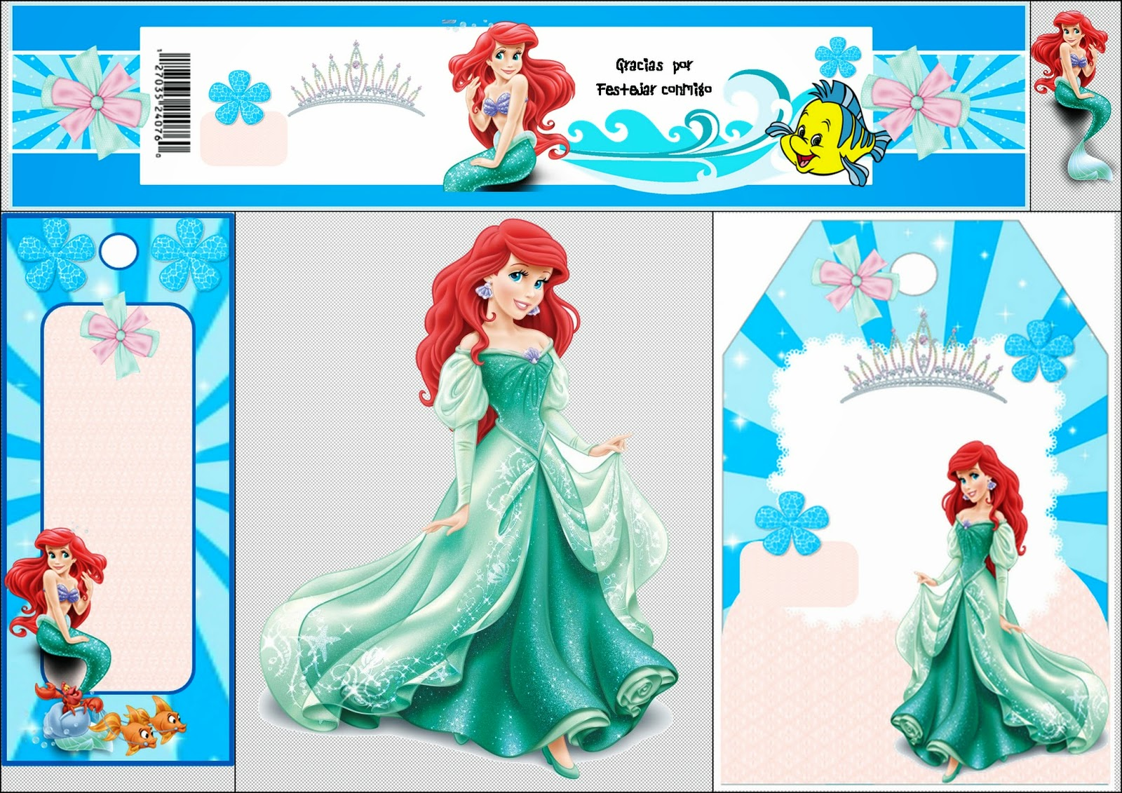 Free Printable Mini Kit For Your Little Mermaid Party