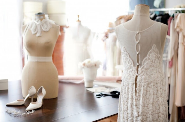 robe de soirée sur mesure atelier Fanny Liautard