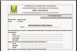 Contoh Surat Pindah Sekolah SD