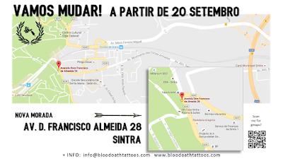 A partir de 20 de Setembro estamos em Sintra na Av. Dom Francisco de Almeida 28