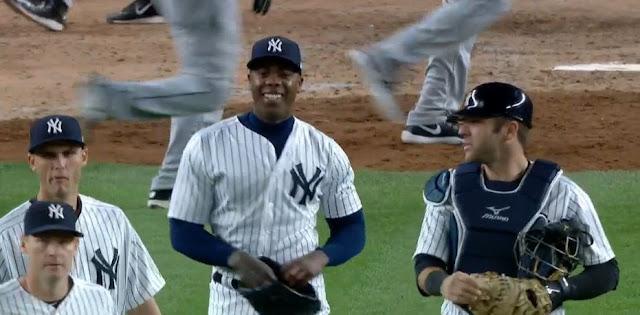 Aroldis Chapman está como van los Yankees de Nueva York: encendido