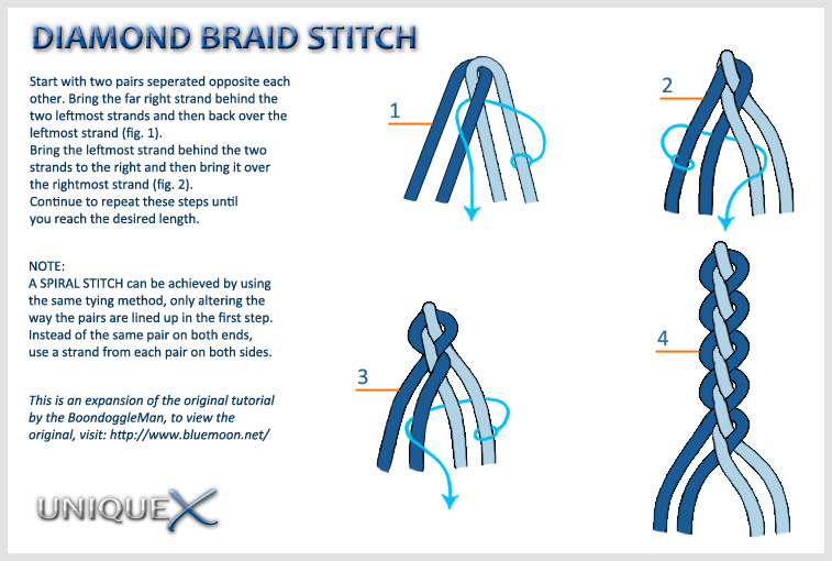 How To Make Diamond Braid With Craft Lace