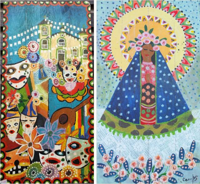 Coisicas Artesanais - Dois belos quadros de Olavo Campos