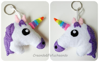 Dos-caras-llavero-de-unicornio-en-fieltro-creandoyfofucheando