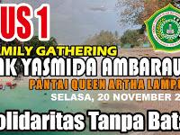 Desain Banner Depan Bis Pariwisata Queen Artha Lampung