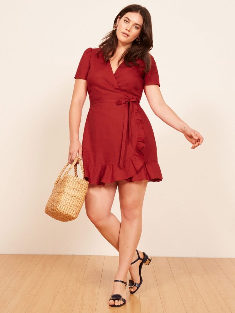 Reformation 'Sally' Dress in Cherry