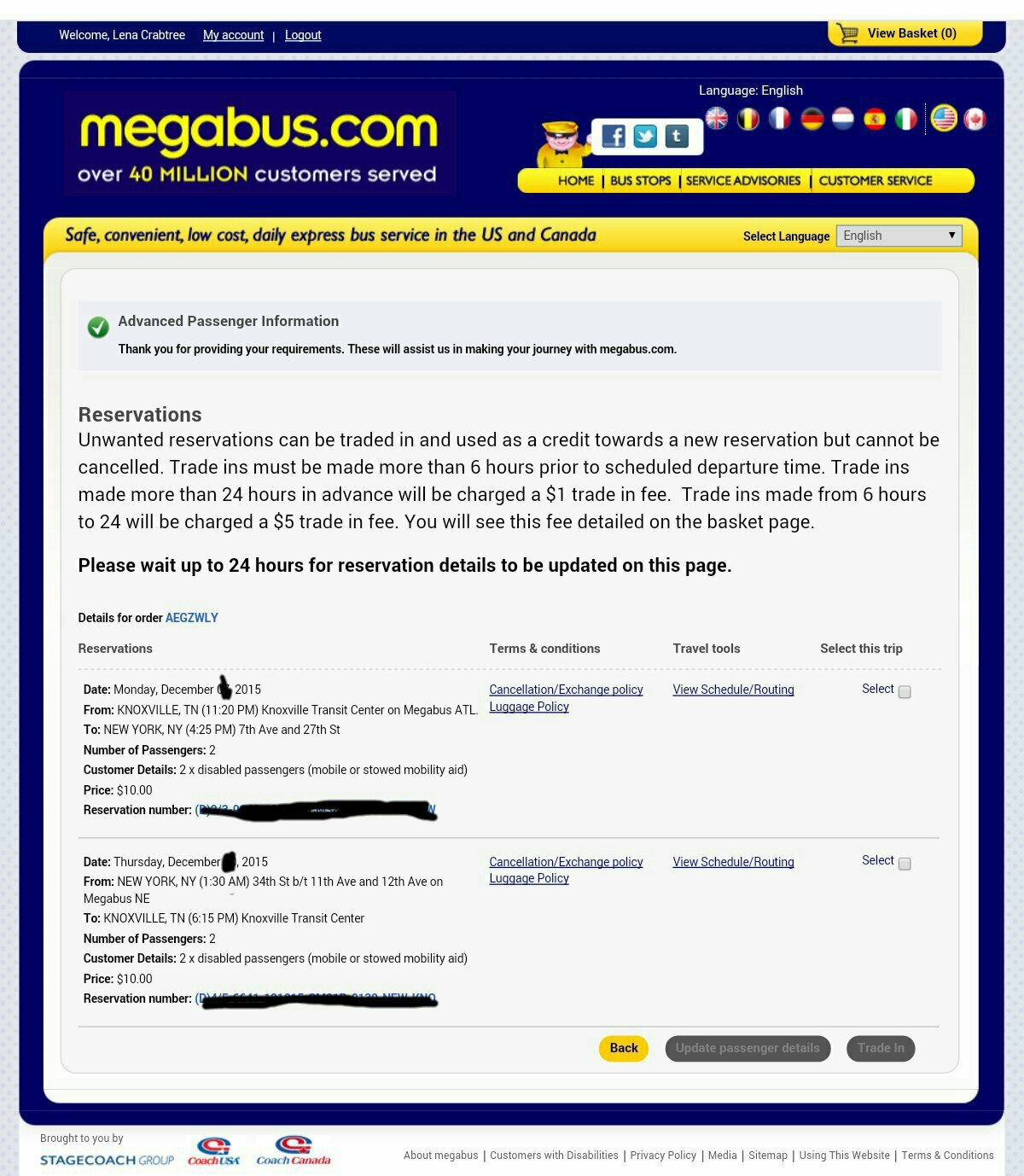 Youve Been Reviewed: Megabus Knoxville to New York City