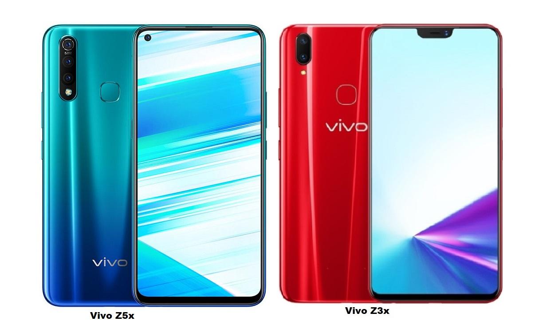 Vivo Z5x Vs Vivo Z3x Specs Comparison