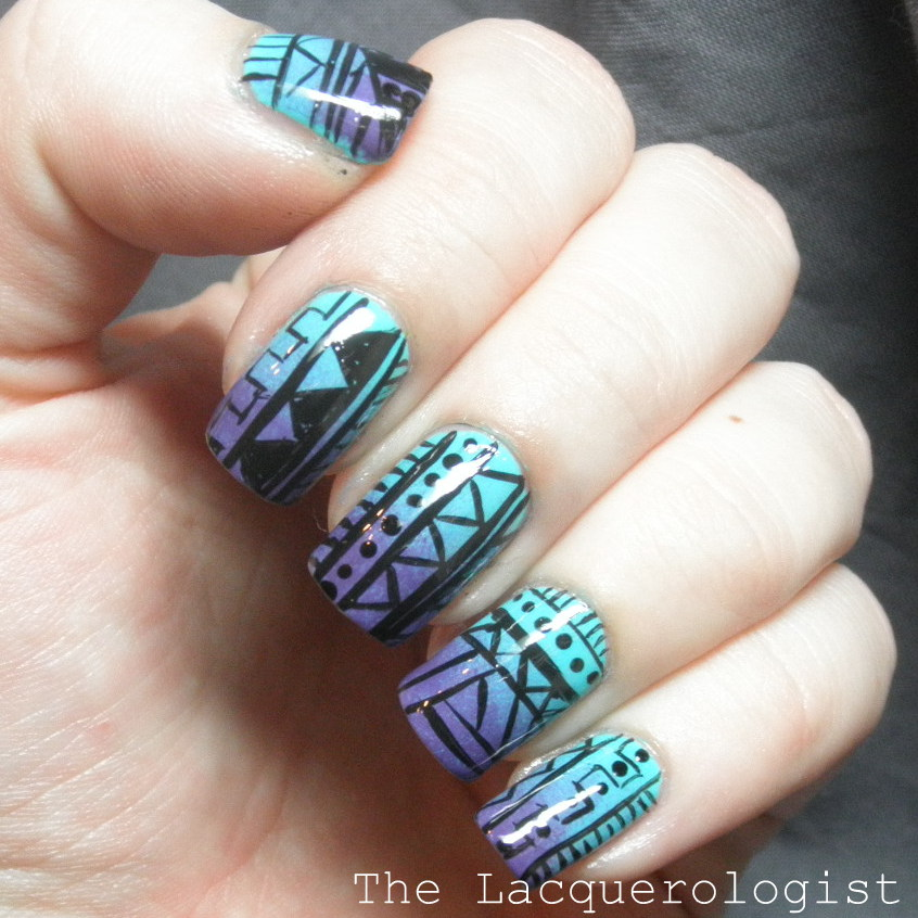 Gradient Tribal Nails with Essie and Priti NYC! • Casual Contrast
